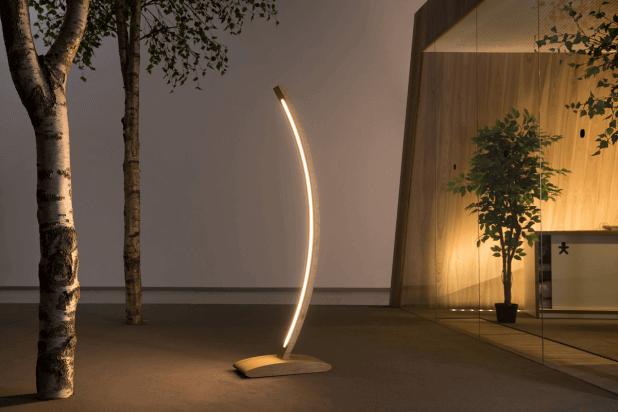 Напольный дизайн LED лампа из дерева ручной работы - Straipu