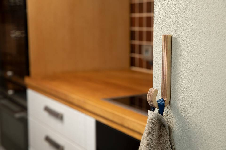 Hooks no 6 - Handcrafted Wooden Towel Hook