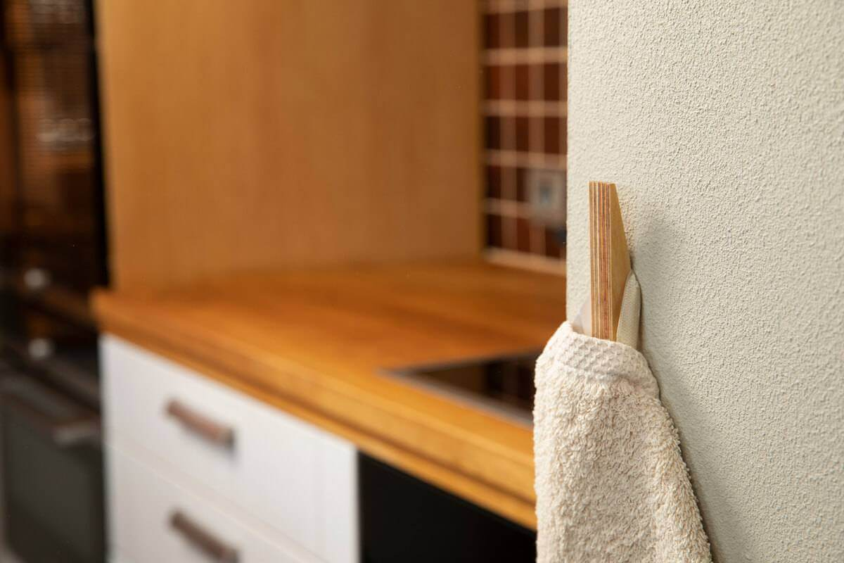 Hooks no 1 - Handcrafted Wooden Towel Hook