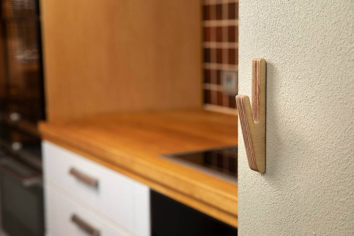 Hooks no 2- Handcrafted Wooden Towel Hook