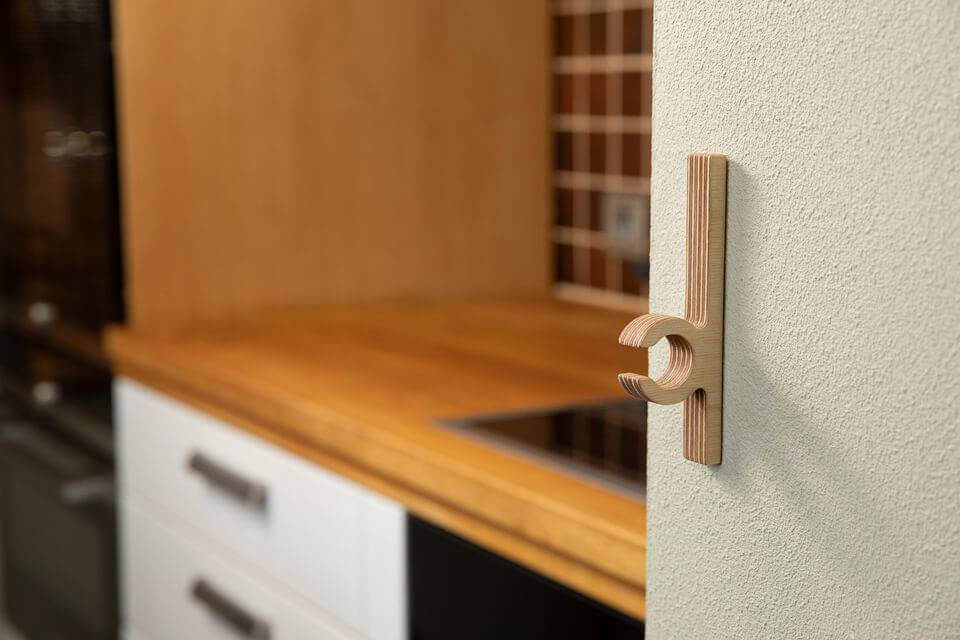 Hooks No 3 - Handcrafted Wooden Towel Hook