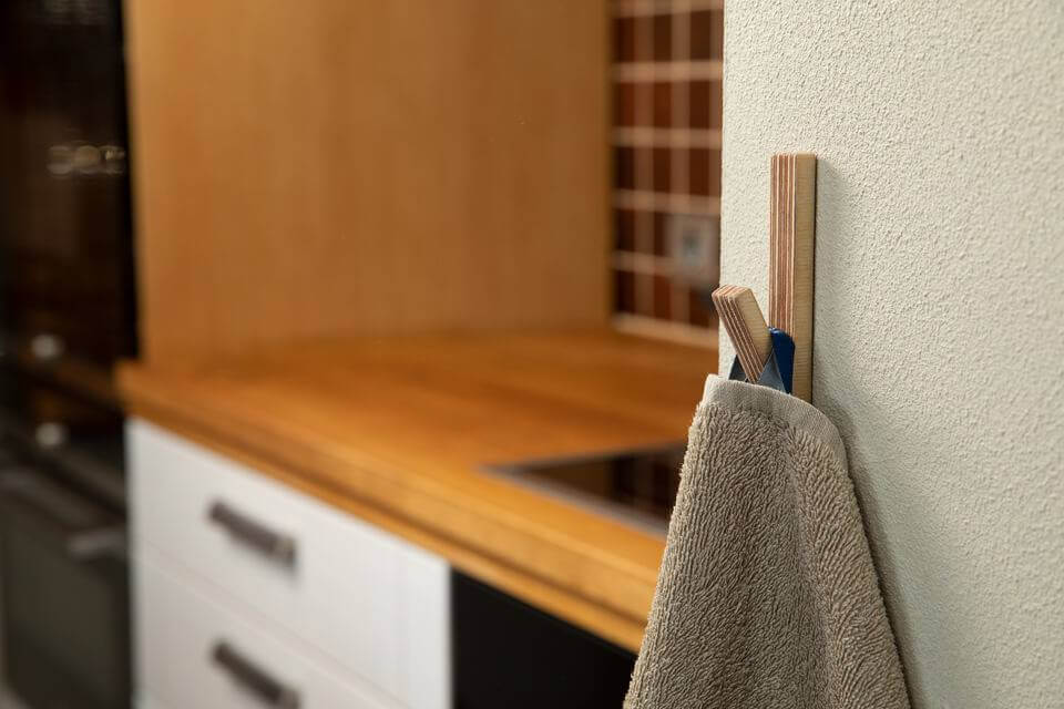 Hooks no 4 - Handcrafted Wooden Towel Hook