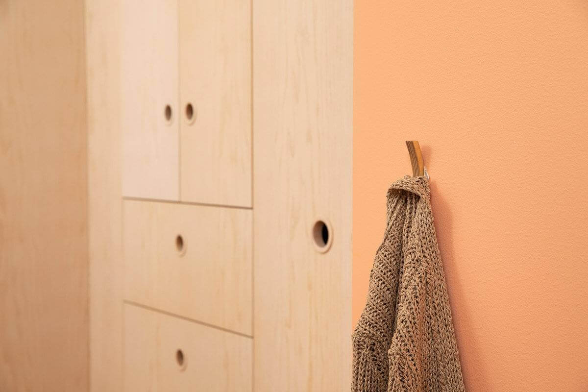 Hooks no 5- Handcrafted Wooden Towel Hook